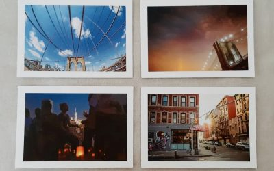 4 Postkarten zur Ausstellung ROOFTOP